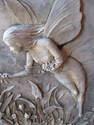 The Fairies Chamber: Contact Form fairy carving